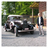 Kristien and her 1932 Ford B