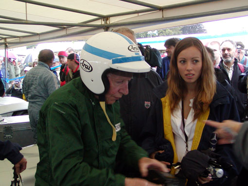 Festival Of Speed >> Photograph of John Surtees giving an autograph to Carlos Ghys (Goodwood Festival of Speed 2004)