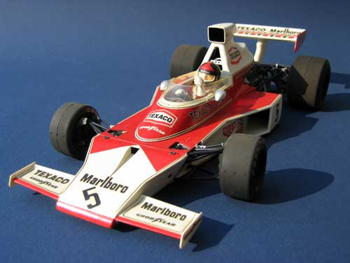 photographs of Tamiya 1/12 scale model (Texaco-Marlboro McLaren M23